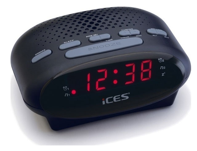 Εικόνα CLOCKRADIO FM LENCO ICR 210 BLACK