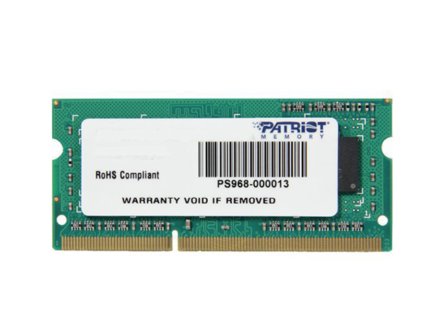 Εικόνα PATRIOT SIGNATURE 4GB DDR3-1600MHZ (PSD34G160081S)