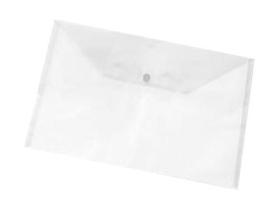 Εικόνα Φάκελος A4 PP με κουμπί - Διάφανο λευκό