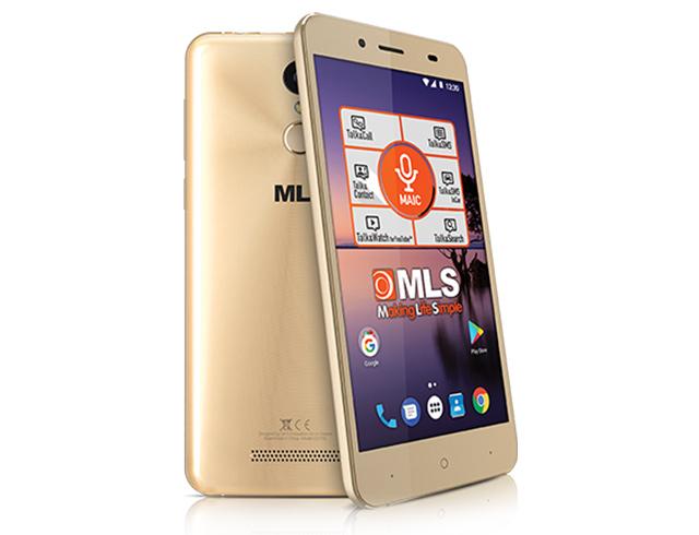 """Εικόνα Smartphone 5.5"""" MLS Color Fingerprint 4G Dual SIM (16GB) - Champagne"""