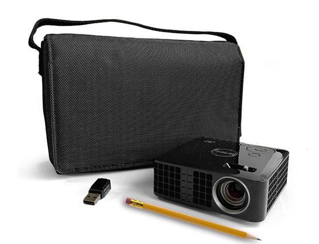 Εικόνα Ultra-Mobile Projector Dell M110 - Ανάλυση WXGA - 300 Lumens - Θύρες VGA, HDMI, USB και Micro SD + Dell τσάντα μεταφοράς + Dell WiFi USB Dongle