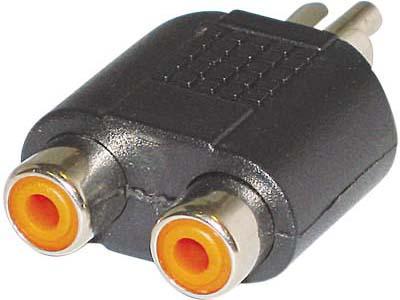 Εικόνα ADAPTOR RCA PLUG-2XRCA SOCKETS