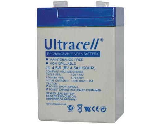 Εικόνα ΜΠΑΤΑΡΙΑ UPS ULTRACEL 6V 4,5AH ΜΟΛΥΒΔΟΥ