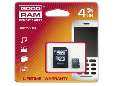 Εικόνα GOODRAM MICROSDHC 912751 4GB CLASS4