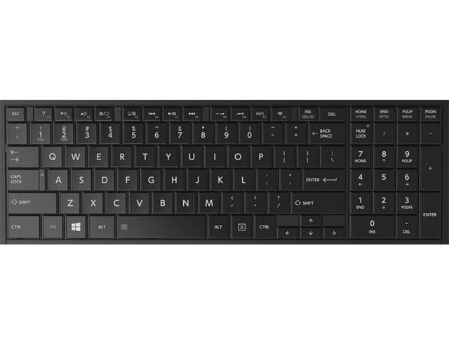 Εικόνα Πληκτρολόγιο laptop συμβατό με Toshiba C850 / C855 / C870 / L850 / L855 /  L870  Series / UK Black