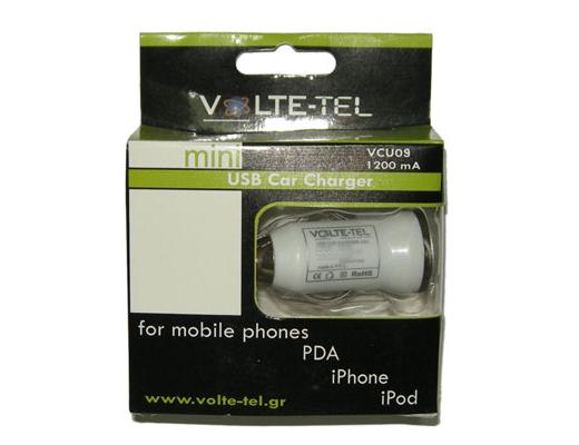 Εικόνα USB ΦΟΡΤΙΣ. AYTOK. VOLTET-TEL VCU09 WHI