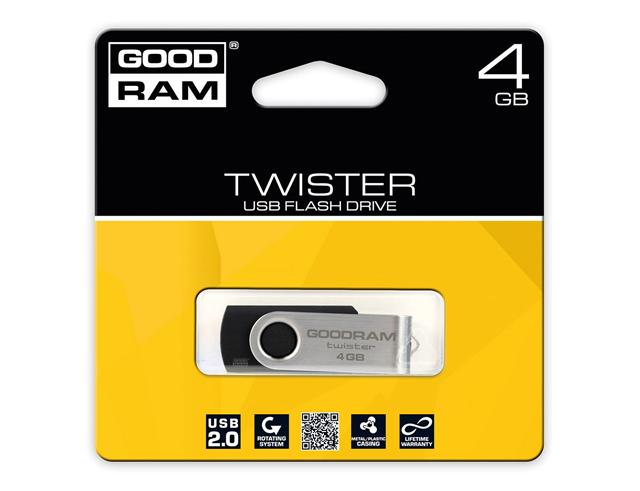 Εικόνα USB Stick GOODRAM TWISTER USB 2.0 4GB