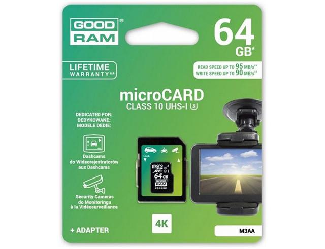 Εικόνα GOODRAM MICROSD+AD 64GB U3 CL10