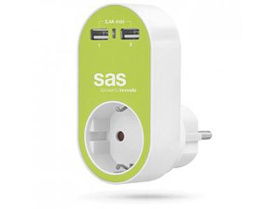 Εικόνα SAS 100-15-129 ΛΑΧΑΝΙ ΑΝΤΑΠ. 1X 2X USB