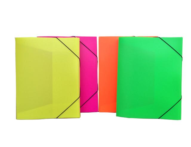 Εικόνα Κουτί Α4 με λάστιχο φωσφοριζέ, σε κίτρινο χρώμα 33x25