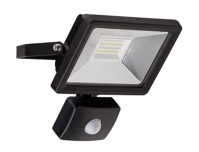 Εικόνα Προβολέας LED για εξωτερικούς χώρους με αισθητήρα κίνησης, Cold White, 20 W, 1650lm, σε μαύρο χρώμα