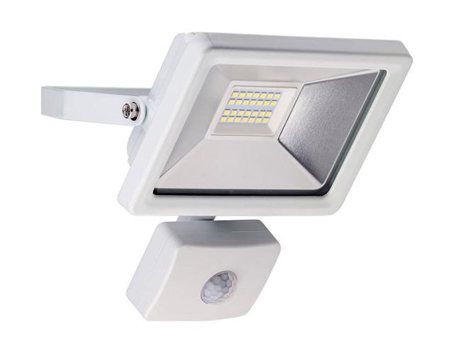 Εικόνα Προβολέας LED για εξωτερικούς χώρους με αισθητήρα κίνησης, Cold White, 20 W, 1650lm, σε λευκό χρώμα