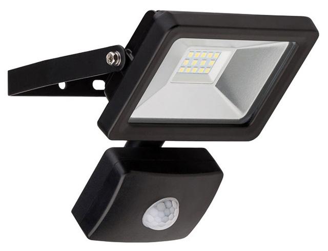 Εικόνα Προβολέας LED για εξωτερικούς χώρους με αισθητήρα κίνησης, Cold White, 10 W, 830lm, σε μαύρο χρώμα
