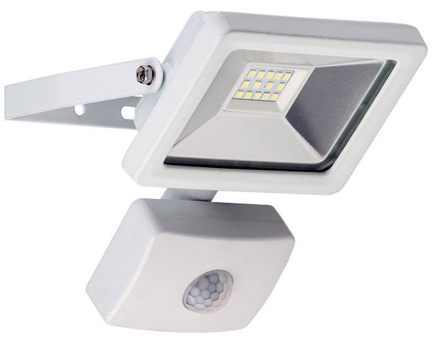 Εικόνα Προβολέας LED για εξωτερικούς χώρους με αισθητήρα κίνησης, Cold White, 10 W, 830lm, σε λευκό χρώμα
