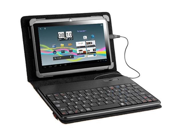 """Εικόνα Tracer TRAT43853 tablet case with keyboard 7""""-8"""" smart fit white"""