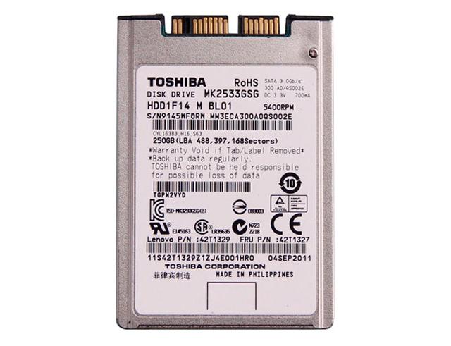 Εικόνα Toshiba HDD 250GB MK2533GSG