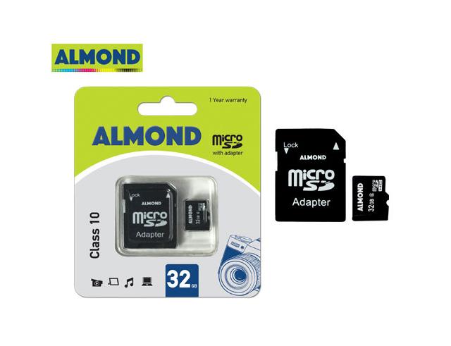 Εικόνα Almond μνήμη micro SDHC με αντάπτορα MSD 32GB