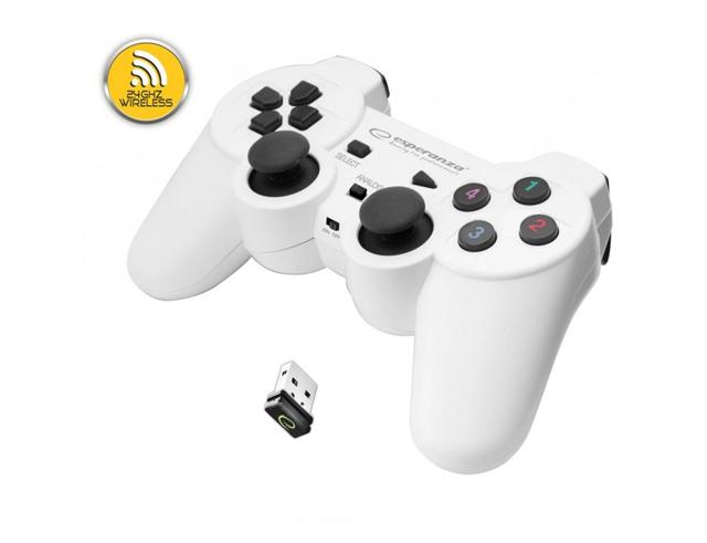 Εικόνα Gamepad Esperanza Wireless Gladiator EGG108W White για PC / PS3