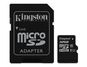 Εικόνα microSDHC Kingston Canvas Select 32GB UHS-I + SD Adapter