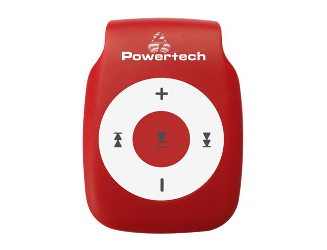Εικόνα Powertech MP3 Player με clip, Ακουστικά, Κόκκινο