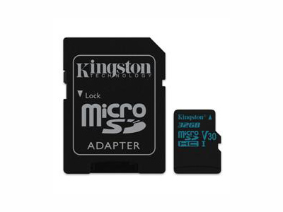 Εικόνα MicroSDHC Kingston Canvas Go 32GB Class U3 UHS-I V30 Card + SD Adapter