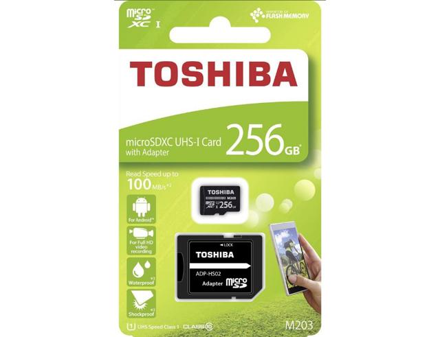 Εικόνα Micro SD Toshiba M203 256GB Class10 U1 με αντάπτορα SD