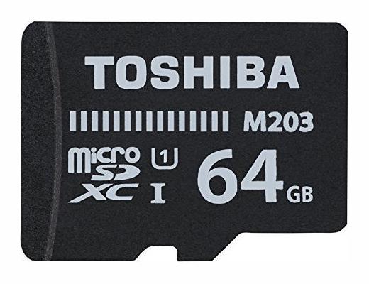 Εικόνα Micro SD Toshiba M203 64GB Class10 U1 με αντάπτορα SD