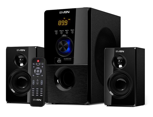 Εικόνα Σύστημα ηχείων 2.1 SVEN MS-2050 2.1 με FM Radio - USB/SD - οθόνη - Bluetooth και τηλεχειρηστήριο