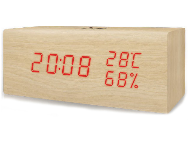 Εικόνα Ξύλινο ψηφιακό θερμόμετρο/υγρόμετρο εσωτερικού χώρου Life WES-106