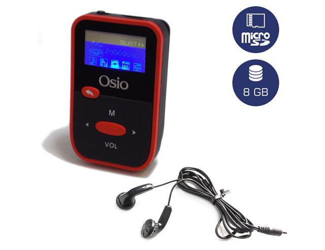 Εικόνα Mp4 / Mp3 player Osio srm-7880bg κόκκινο 8GB