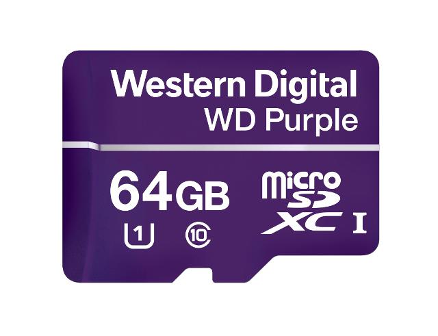 Εικόνα Κάρτα MicroSD WD Purple 1P7WDC-WDD064G1P0A