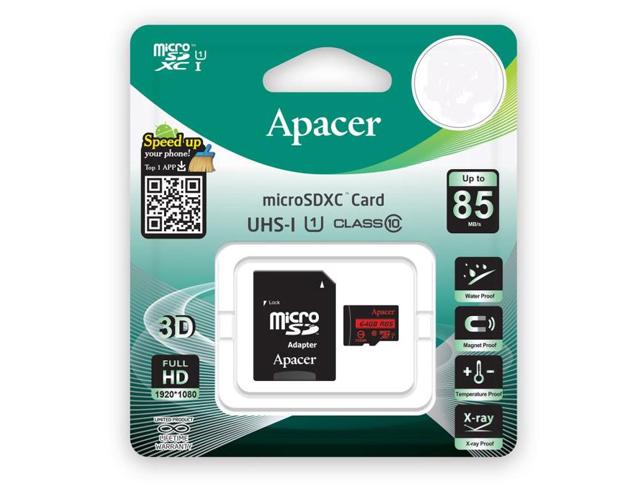 Εικόνα Memory Card Micro SDHC Apacer R85 64GB UHS-I U1 Class10