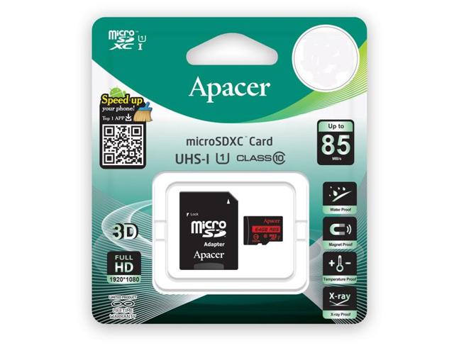 Εικόνα Memory Card Micro SDHC Apacer R85 16GB UHS-I U1 Class10