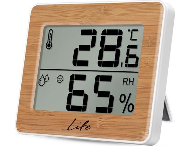 Εικόνα Ψηφιακό θερμόμετρο-υγρόμετρο εσωτερικού χώρου Life Wes-107