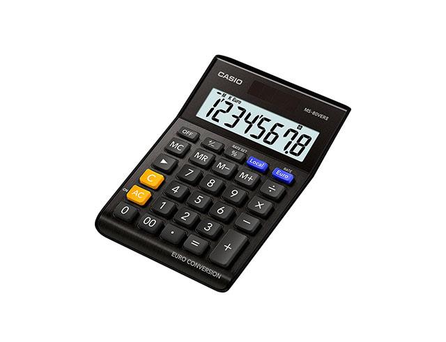 Εικόνα Αριθμομηχανή γραφείου Just Desk Casio MS-80VERIIBK