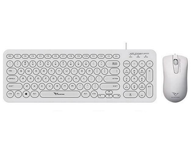 Εικόνα Σετ Πληκτρολόγιο Ποντίκι Alcatroz Jellybean U2000 - USB - White