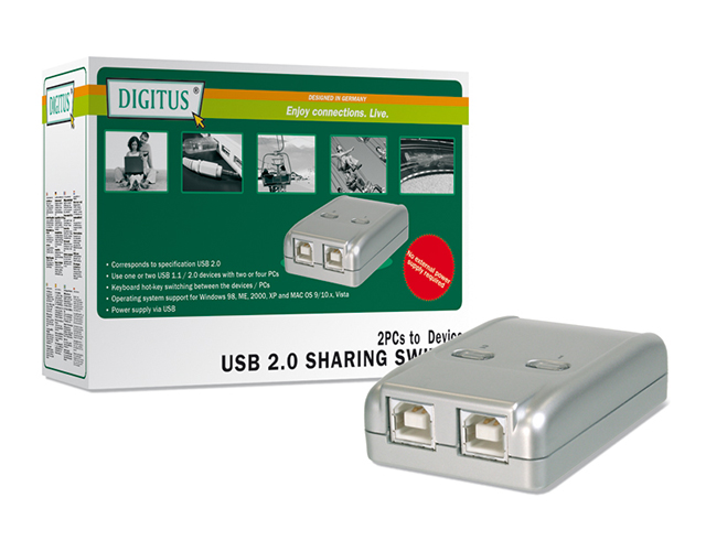 Εικόνα Data Switch Digitus DA-70135-2 2PC - 1 Συσκευη USB 2.0