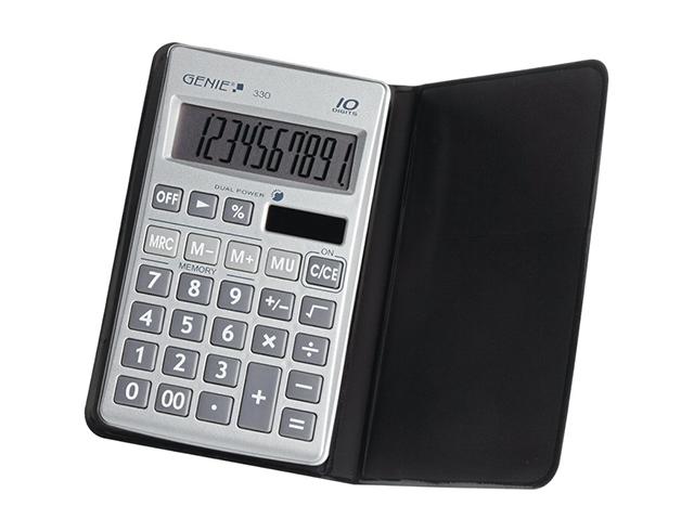Εικόνα Αριθμομηχανή τσέπης Genie 330 με mark - Up και θήκη