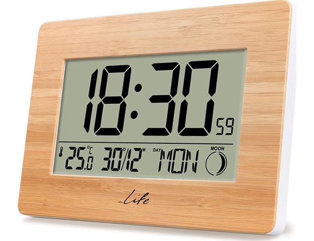 Εικόνα Ψηφιακό ρολόι Bamboo LIFE Bamboo Clock XL