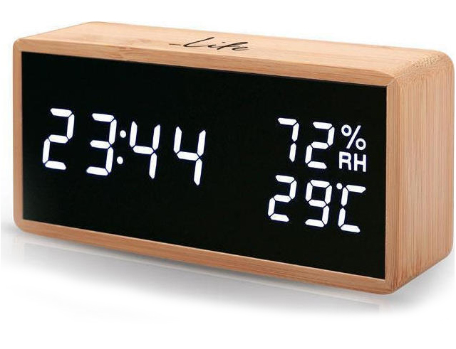 Εικόνα Ψηφιακό θερμόμετρο/υγρόμετρο Life Wes-108 Bamboo