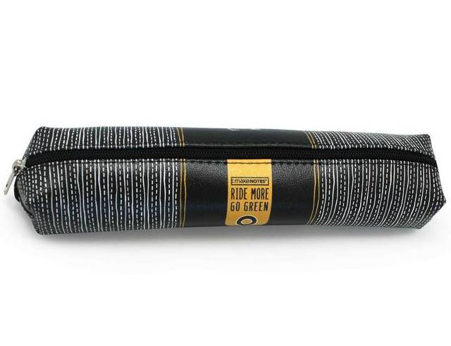 Εικόνα Κασετίνα - θήκη μολυβιών Make Notes Ride More Go Green CYC-PCS black/yellow