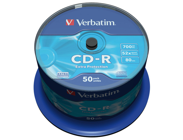 Εικόνα CD ΚΕΝΑ VERBATIM 80m 52x 50ΤΕΜ