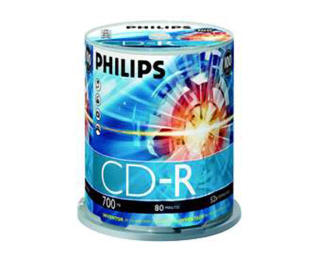 Εικόνα CD ΚΕΝΑ PHILIPS 80Χ 100ΤΕΜ