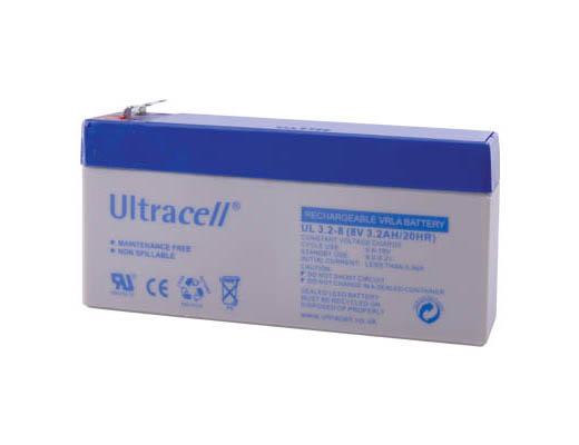 Εικόνα ΜΠΑΤΑΡΙΑ ΜΟΛΥΒΔΟΥ ULTRACELL 8V 3.2AH