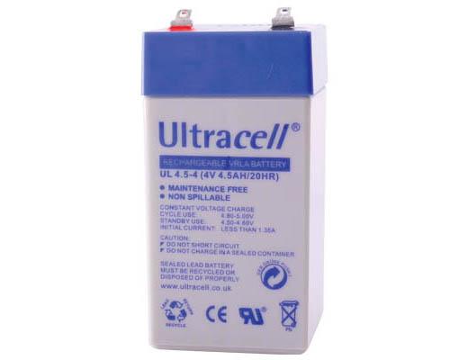Εικόνα ΜΠΑΤΑΡΙΑ ΜΟΛΥΒΔΟΥ ULTRACELL 4V 4.5AH